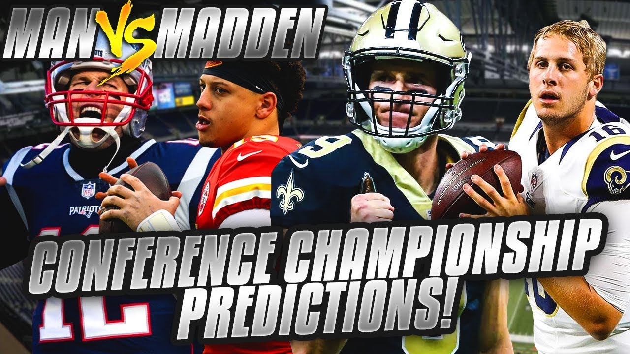 Predicting Every NFL Conference Championship Winner... OMG WHAT A CRAZY WEEKEND!| Man vs Madden 2018