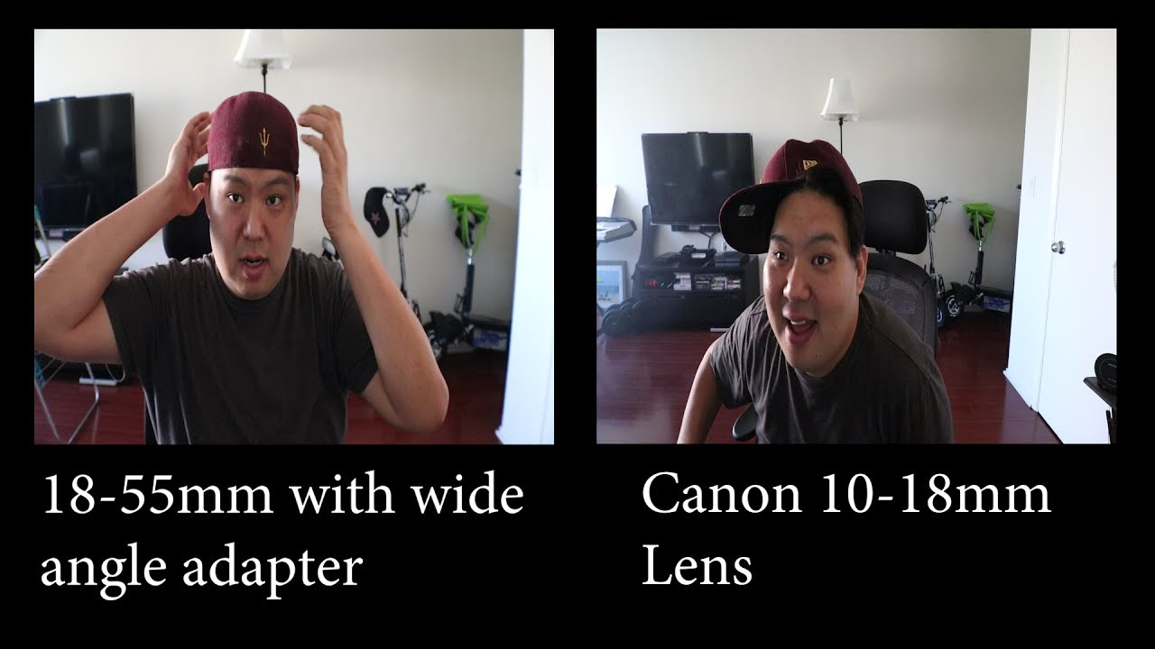 Canon 18 55mm With Wide Angle Adapter VS 10 18mm Lens