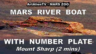 MARS RIVER BOAT with NUMBER PLATE: Clearest Alien Anomaly. ArtAlienTV - (R) 1080p