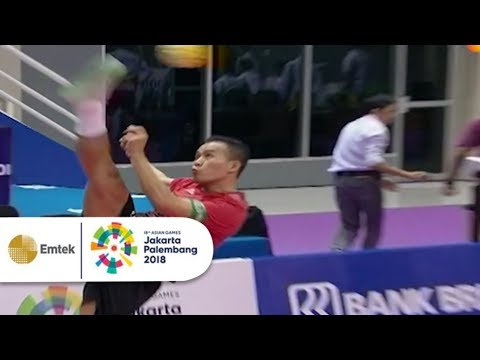 Highlight Sepak Takraw Putra - Indonesia Vs Vietnam   Gelora Asian Games 2018