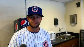 South Bend Cubs infielder David Bote talks about his draft experience