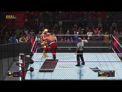 Hollywood Hulk Hogan Vs Abdullah The Butcher In Hell In A Cell Wwe Championship Youtube