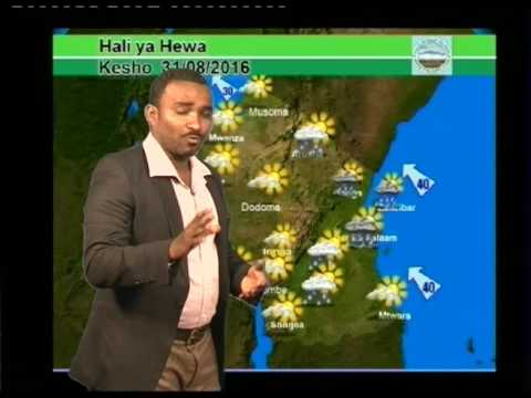 Tanzania Weather Forecast 30/08/2016