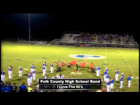 Polk County High School Band Performing the Half-time Show