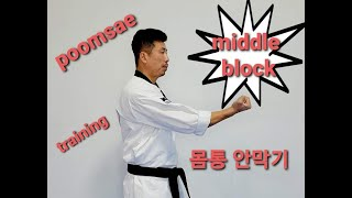 Poomsae middle block home training