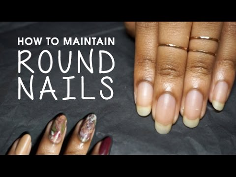 How To Maintain Round Nails Holiday Inspired Dry Marble Nail Art