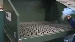Apb 4250 Downdraft Table Showing How Well Smoke Is Drawn Down