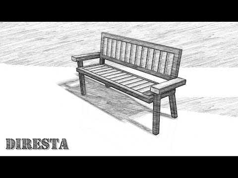 Wood and Steel Bench by Jimmy DiResta - Modeled in Autodesk Inventor