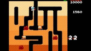 Dig Dug - Dig Dug Level 1 (NES) - User video