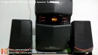 Philips MMS 2550F Multimedia Speaker System Demo Review