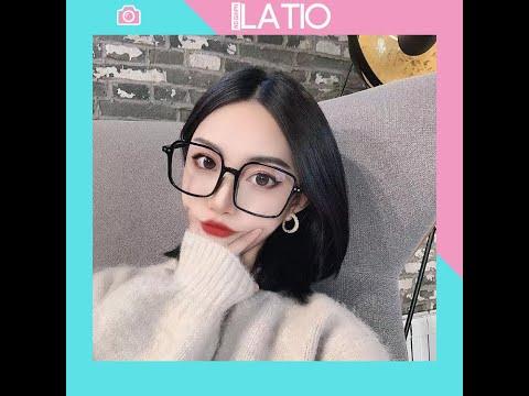 Mắt kính thời trang giả cận đẹp trong suốt gọng kính vuông cao cấp LATIO K5