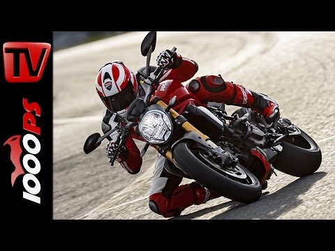First-Test   Ducati Monster 1200 S 2014   Action, Wheelies, Onboard, Details