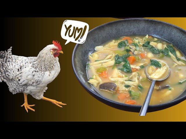 Amazing Pulled Mushroom Noodle Soup (VEGAN