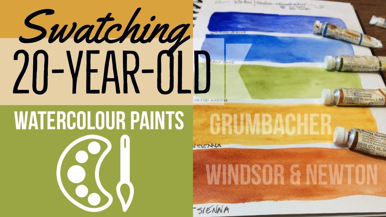 Swatches 20 Year Old Watercolours Winsor Newton Grumbacher