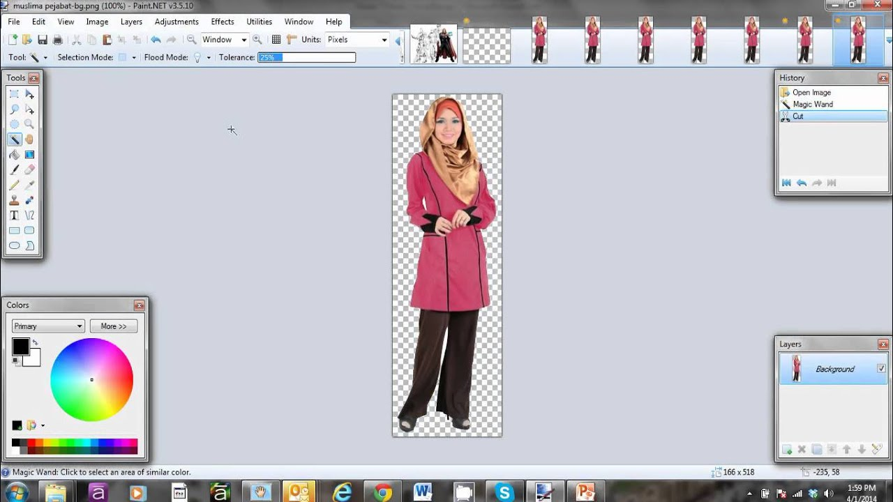 Change image background to Transparent using Paint.NET - YouTube