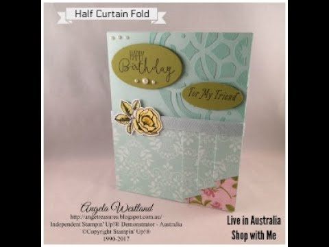 Half Curtain Fold with Petal Garden DSP and Embossing Paste