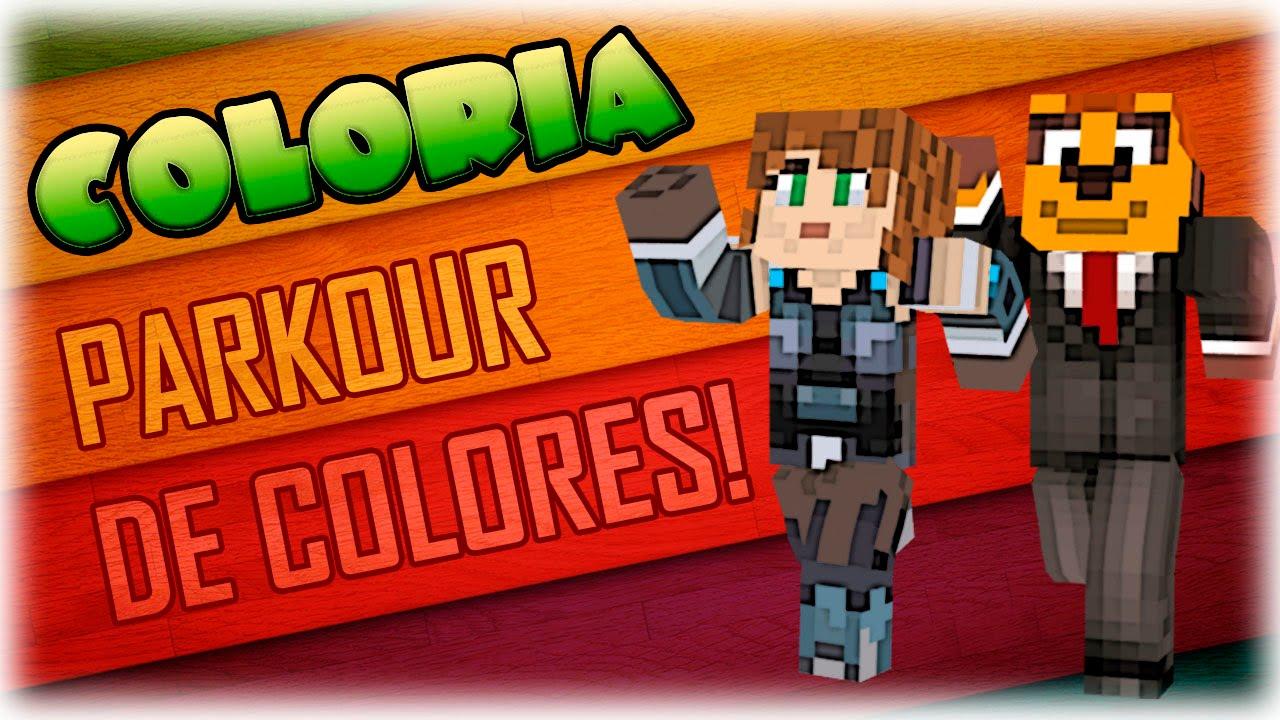 parkour de colores coloria youtube