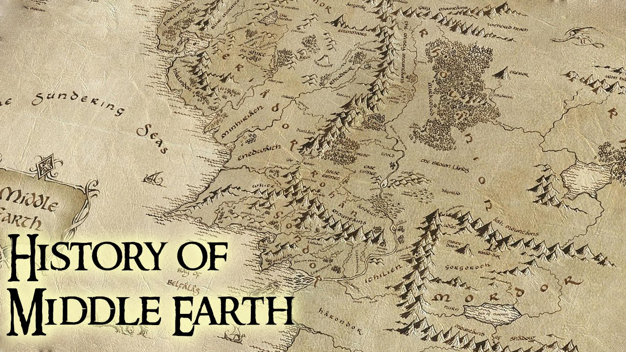 History of Middle Earth Lord of the Rings YouTube – Lord of the Rings Map Middle Earth