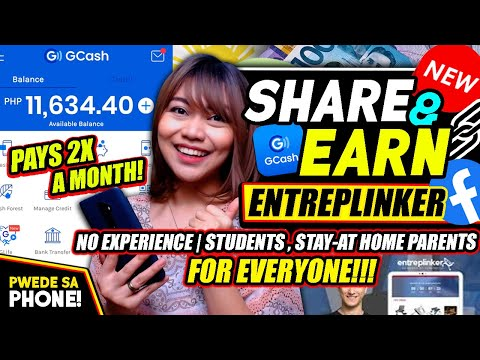 Pwede Sa PHONE: NO EXPERIENCE \u0026 AGE LIMIT, PAYS 2X A MONTH! STUDENTS \u0026 EVERYONE! | ENTREPLINKER