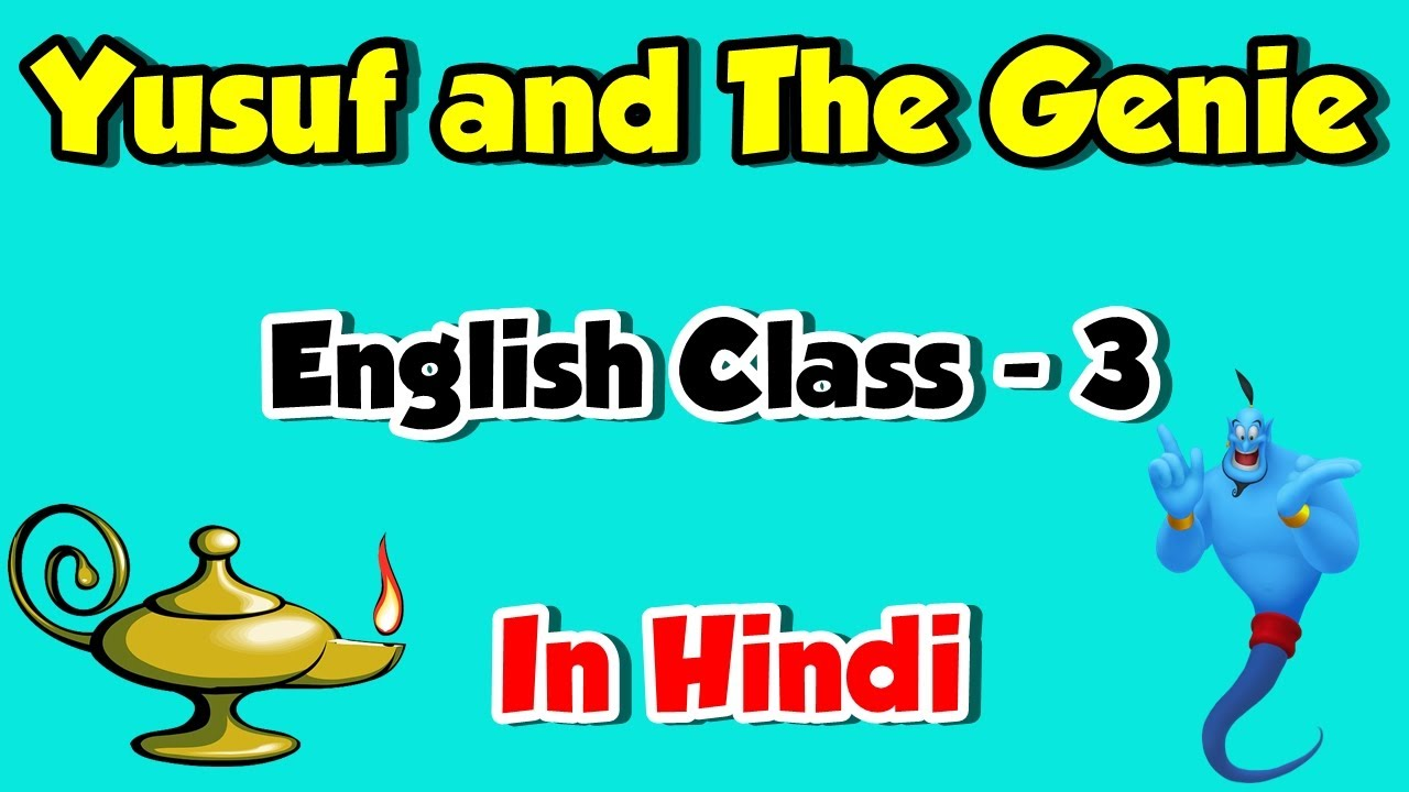 Yusuf and the Genie Story In Hindi   Class 3rd English Subject   Bedtime Story   The Magic Carpet - YouTube