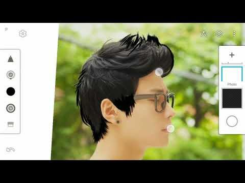 Hair Style special cartoon effect creation