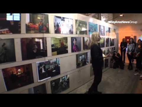 """VIDEO: Annie speaks preview of @annieleibovitz """"Women"""" show in. #SanFrancisco. @insidebayarea @mercn"""