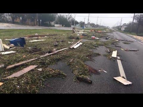 Debris litters Florida Keys streets post-Irma