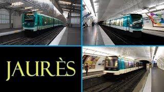 Station de Jaurès : Métro de Paris