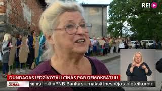Dundagas iedzīvotāji cīnās par demokrātiju