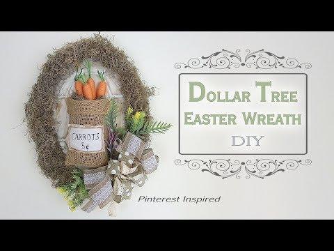 Dollar Tree DIY Easter & Spring Wreath