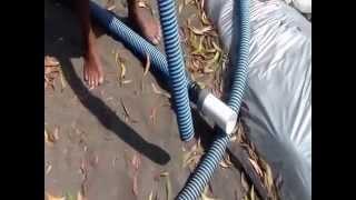 20 Cara Siphon Tambak - Budidaya Udang Vaname Intensif Plastik Mulsa