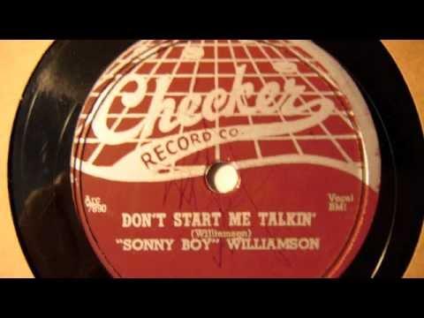 Sonny Boy Williamson. Don't Start Me Talkin' mp3