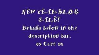 NEW YEAR BLOG SALE! Thumbnail
