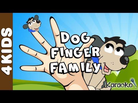 The Dog Finger Family NURSERY RHYMES   Karaoke   JUNIORS TOONS