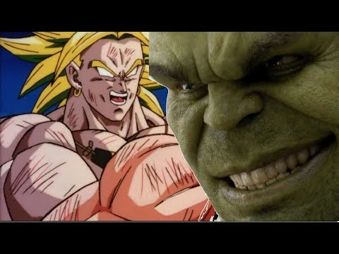 Broly vs Hulk Power Levels (Dragon Ball Super vs Marvel)