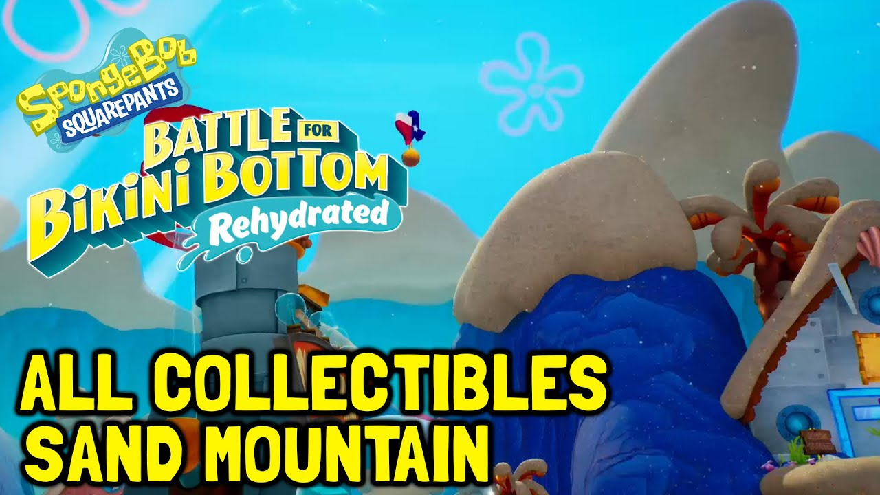SpongeBob Battle For Bikini Bottom Rehydrated All Collectibles In Sand Mountain