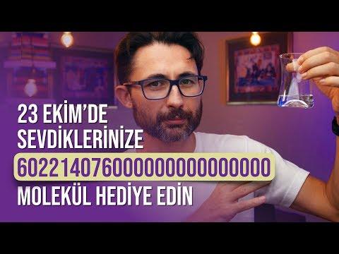 23 Ekim'de sevdiklerinize 602214076000000000000000 molekül hediye edin