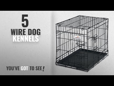 Top 5 Wire Dog Kennels [2018 Best Sellers]: Petmate 24-Inch 2-Door Training Retreats Wire Kennel for