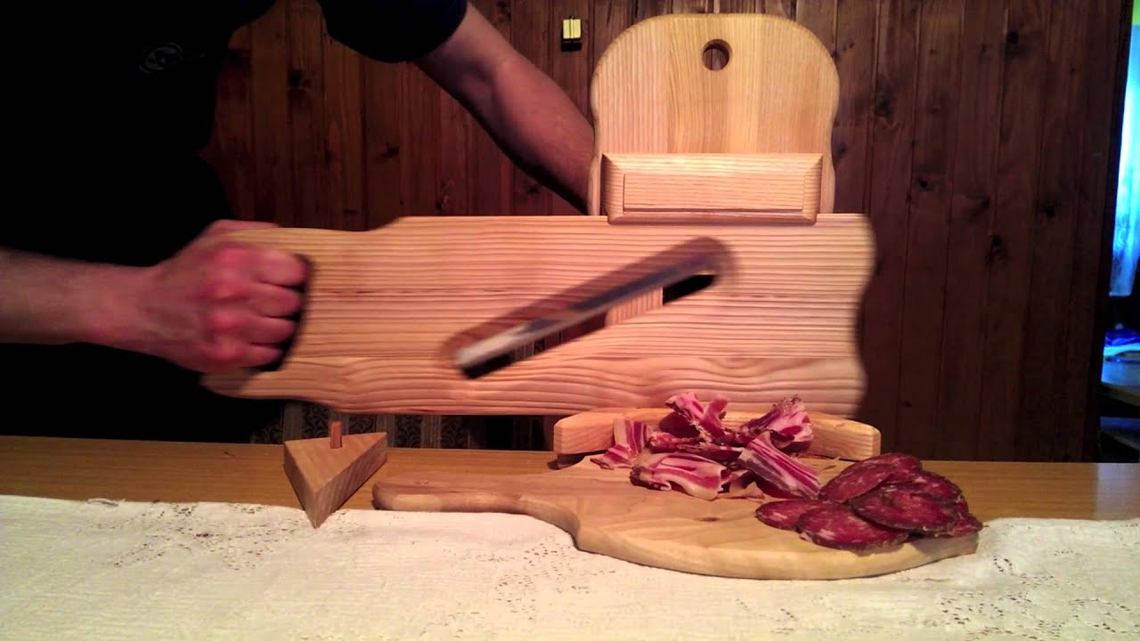 Rustic Wooden Meat Slicer  YouTube