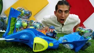 Видео для детей. Игрушки для мальчиков. Exogini играют в футбол