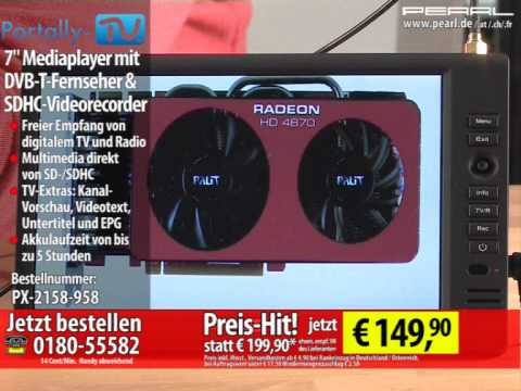 portally tv 7 mediaplayer mit dvb t fernseher sdhc videorecorder youtube. Black Bedroom Furniture Sets. Home Design Ideas