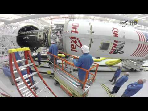 Orbital Sciences Cygnus CRS Orb-3 Video B Roll of Processing