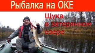 Рыбалка на Оке. Щука в затерянном озере....
