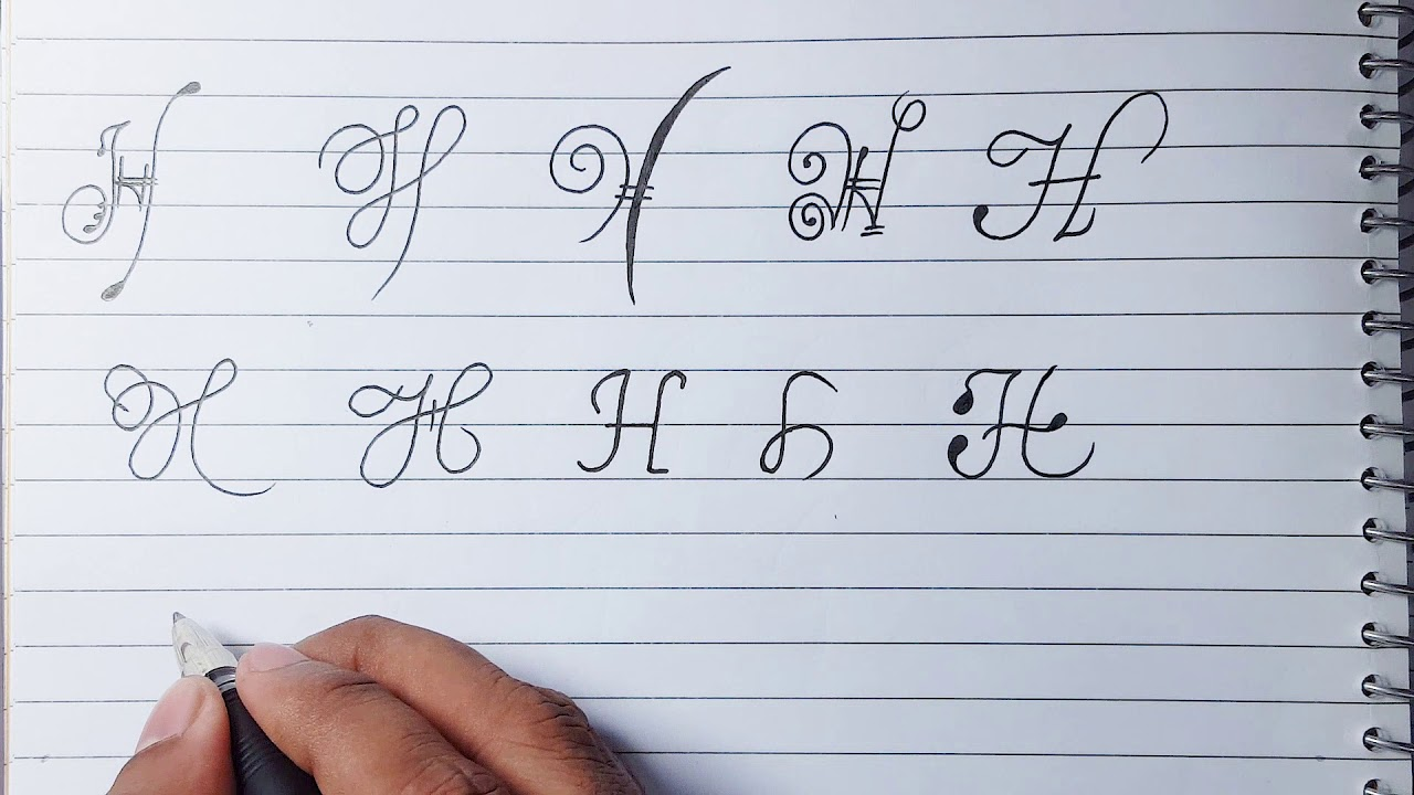 """How To Design Letter """"H"""" in Different Ways - All About ..."""