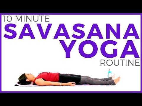 Yoga for Relaxation (10 minute Yoga) Savasana Yoga Meditation | Sarah Beth Yoga