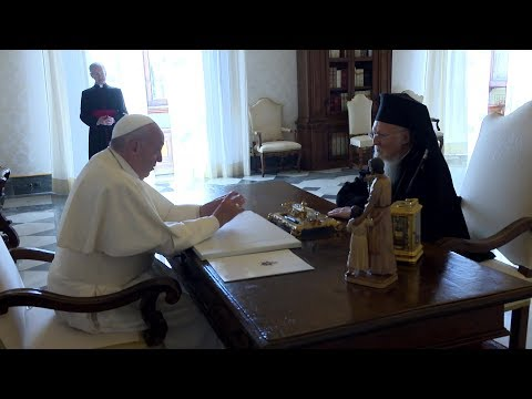 Pope Francis meets with Bartholomew, Patriarch of Constantinople