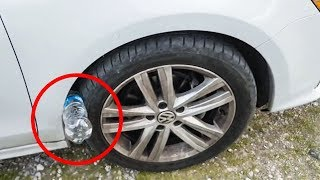Warning! IF YOU SEE A BOTTLE IN THE WHEEL, START RUNNING AND CALL THE POLICE!