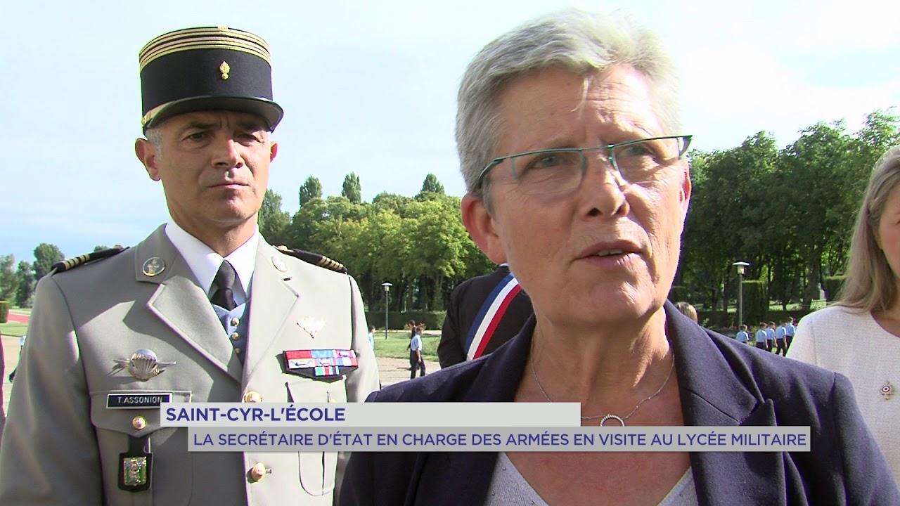 Saint-Cyr-l'Ecole : La secrétaire d'Etat en charge des armées en visite au lycée militaire