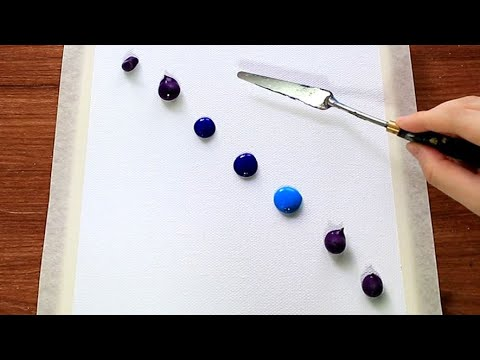 Easy Galaxy Landscape Acrylic Painting Tutorial Using pen brush #160|Satisfying Abstract Demo