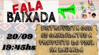 ENTREVISTA COM OS CANDIDATOS DO PSOL  A PREFEITO NA BAIXADA SANTISTA